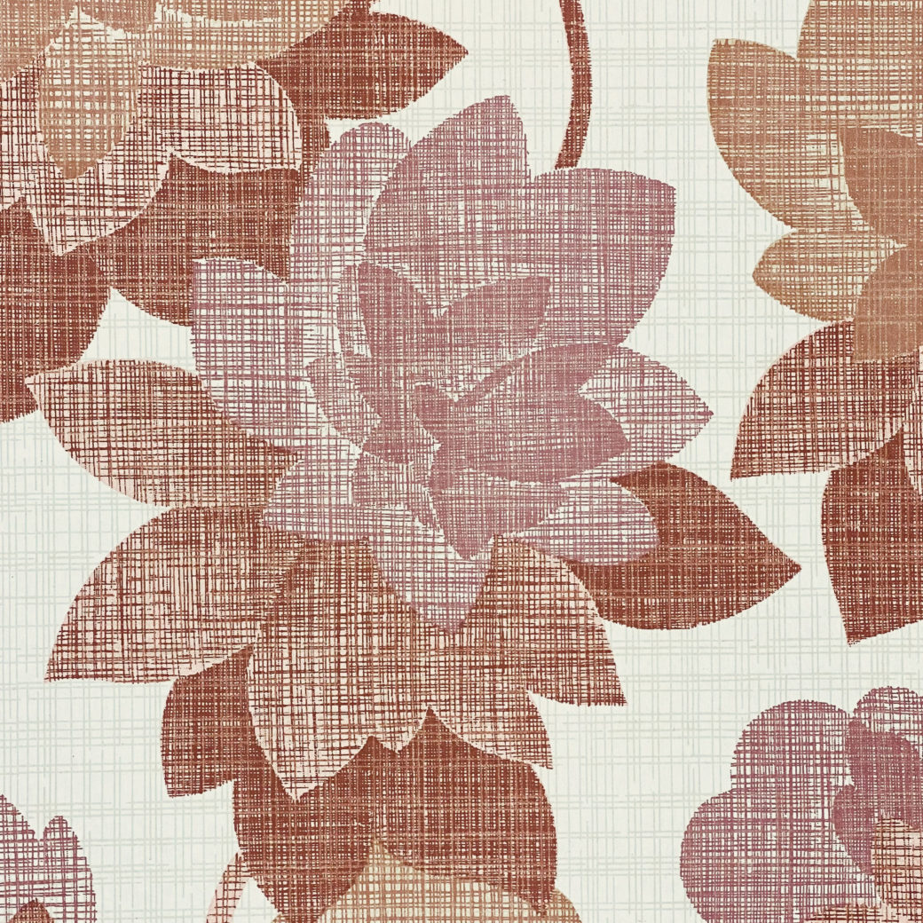 Floral Wallpaper Shades of Purple 4
