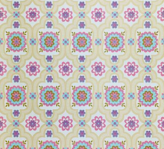 Geometric Floral Wallpaper