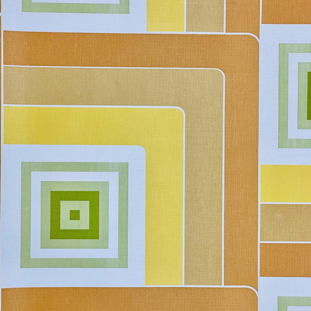 Geometric Wallpaper Brown and Green 2