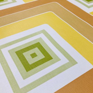 Geometric Wallpaper Brown and Green 4