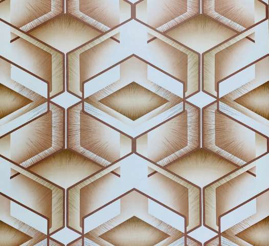 Geometric Wallpaper Brown