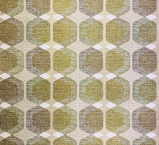 Geometric Wallpaper Gold and Green 1