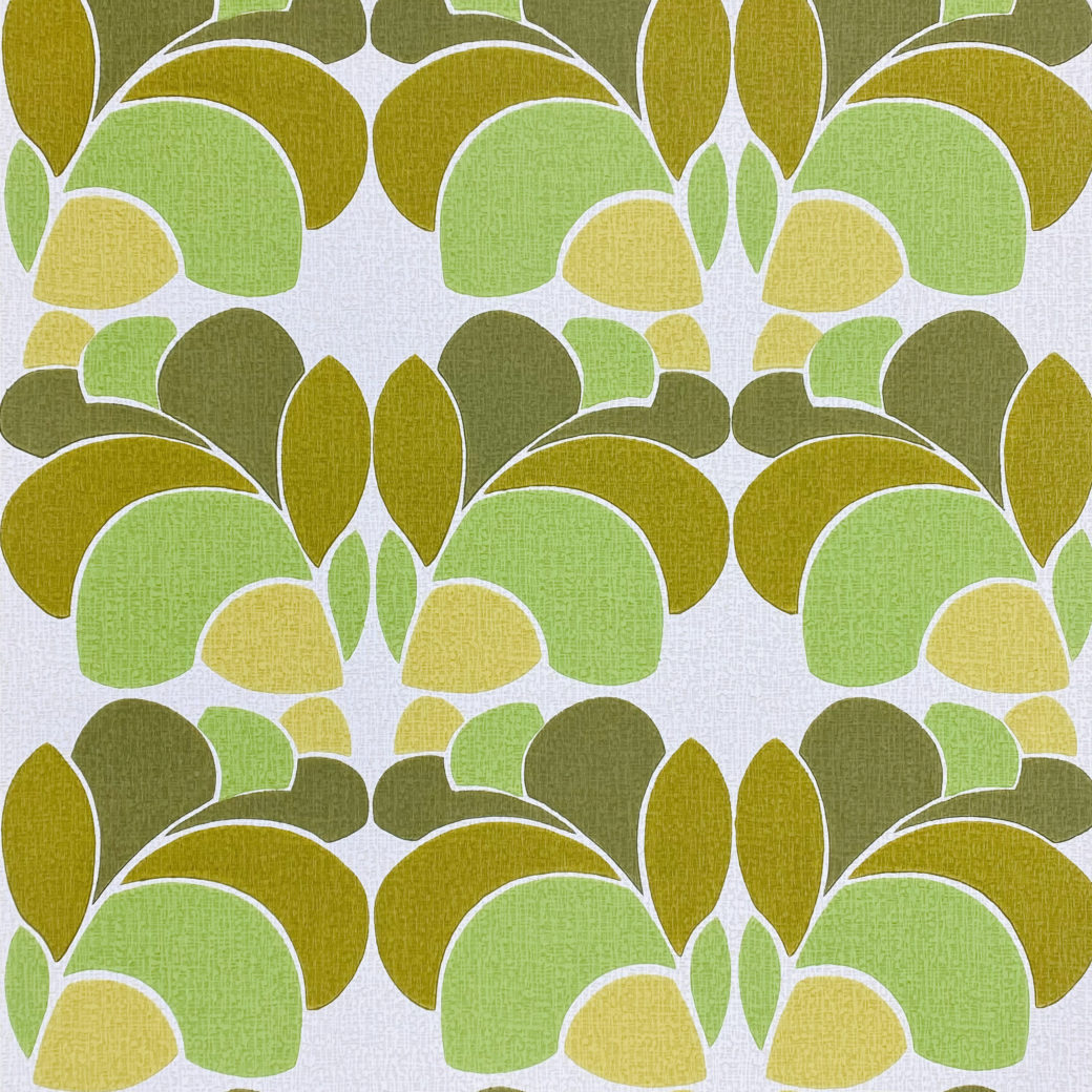 Geometric Wallpaper Leaf Pattern 1