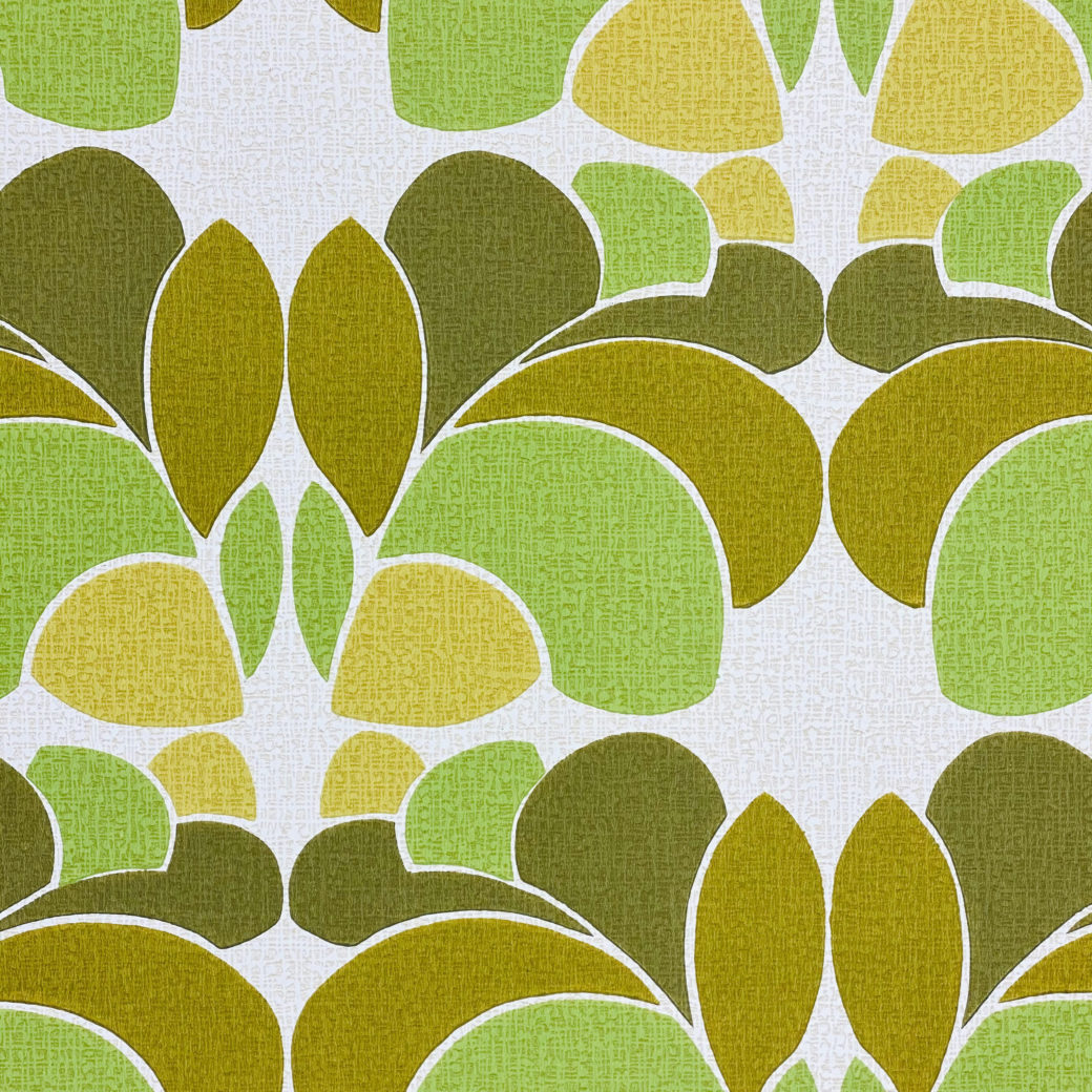 Geometric Wallpaper Leaf Pattern 4