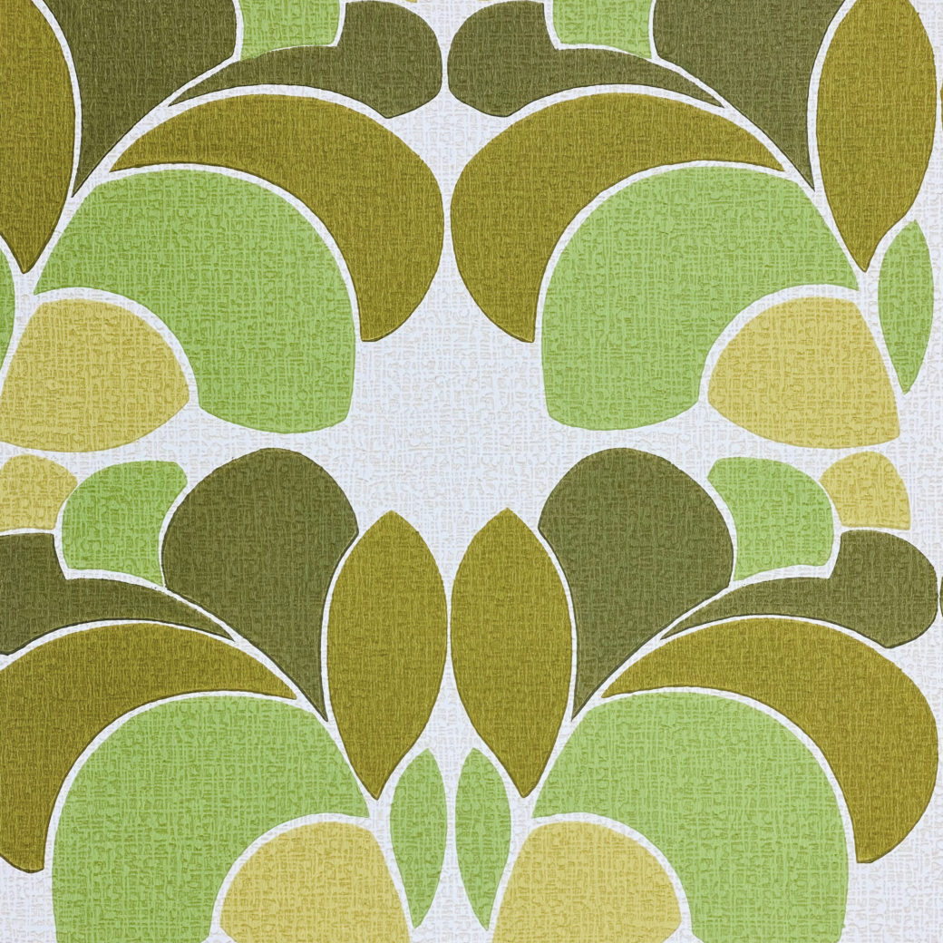 Geometric Wallpaper Leaf Pattern 6