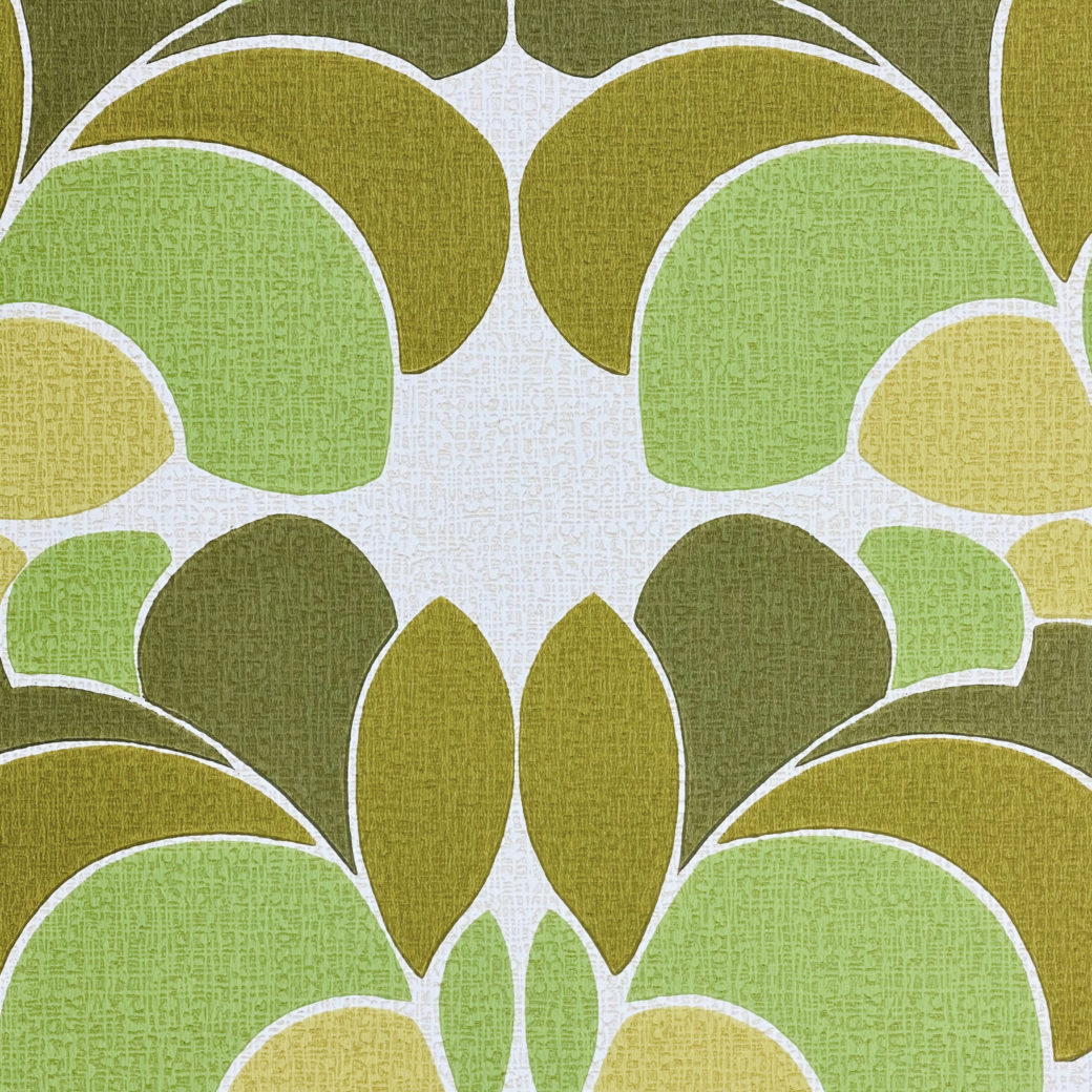 Geometric Wallpaper Leaf Pattern 7