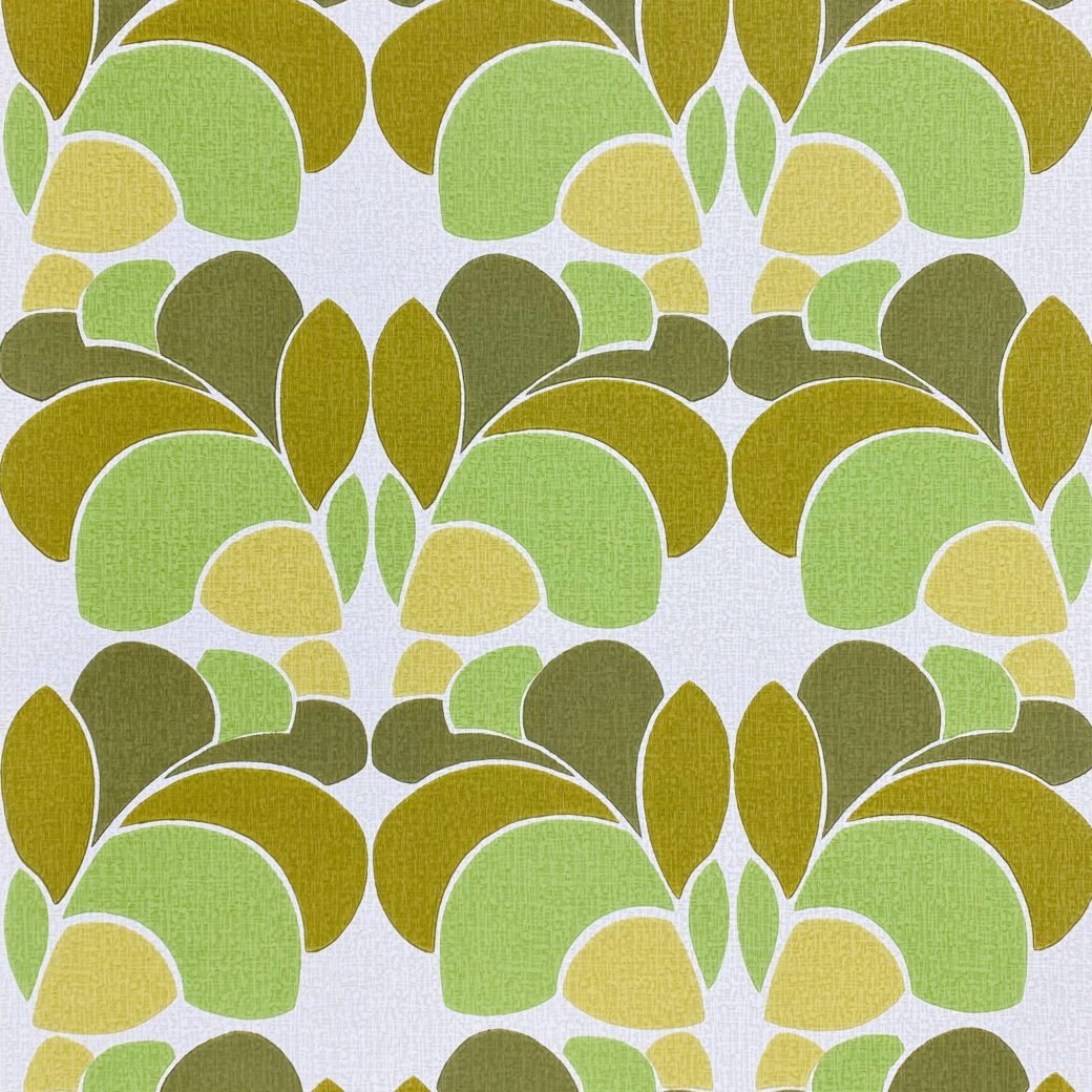 Geometric Wallpaper Leaf Pattern
