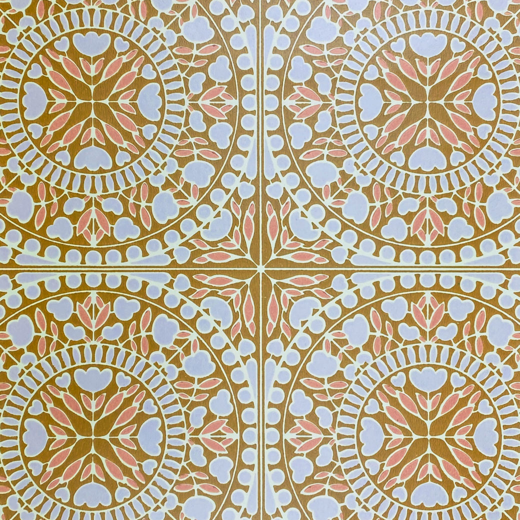 Geometric Wallpaper Violet and Pink on Brown 2