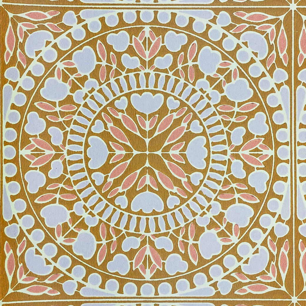 Geometric Wallpaper Violet and Pink on Brown 4