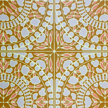 Geometric Wallpaper Violet and Pink on Brown 3