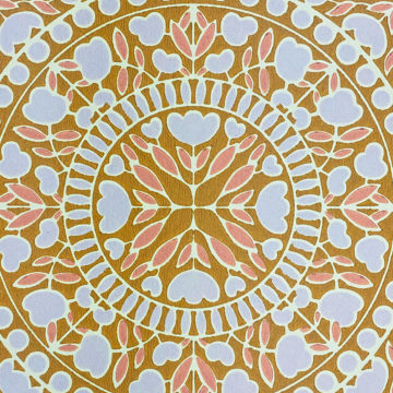 Geometric Wallpaper Violet and Pink on Brown 5