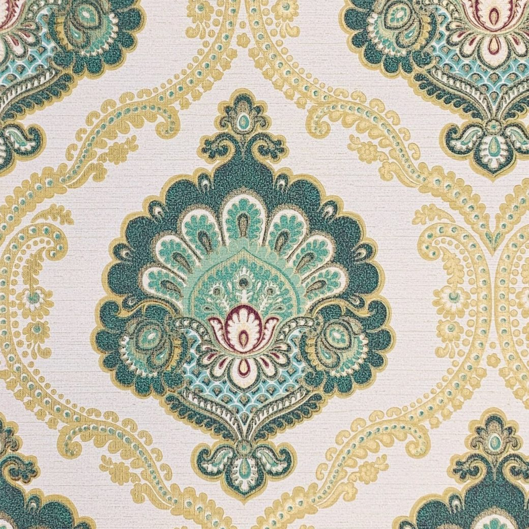 Gold and turquoise wallpaper 2