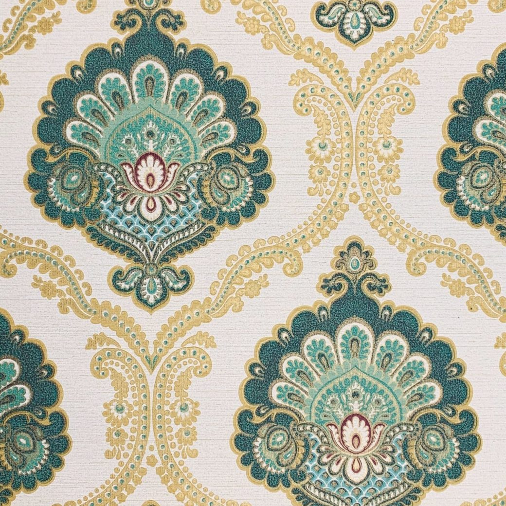 Gold and turquoise wallpaper 1