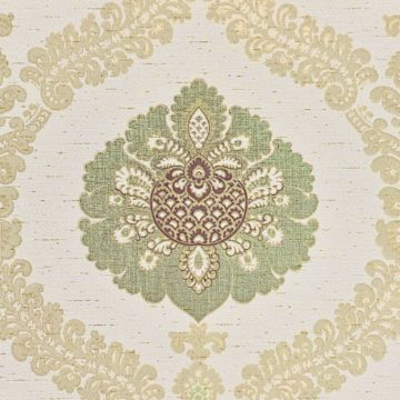 Green and gold baroque wallpaper 1