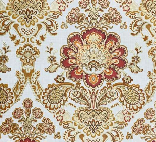 Vintage gold damask wallpaper