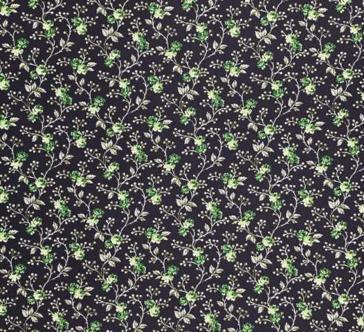 Green and black floral wallpaper 1