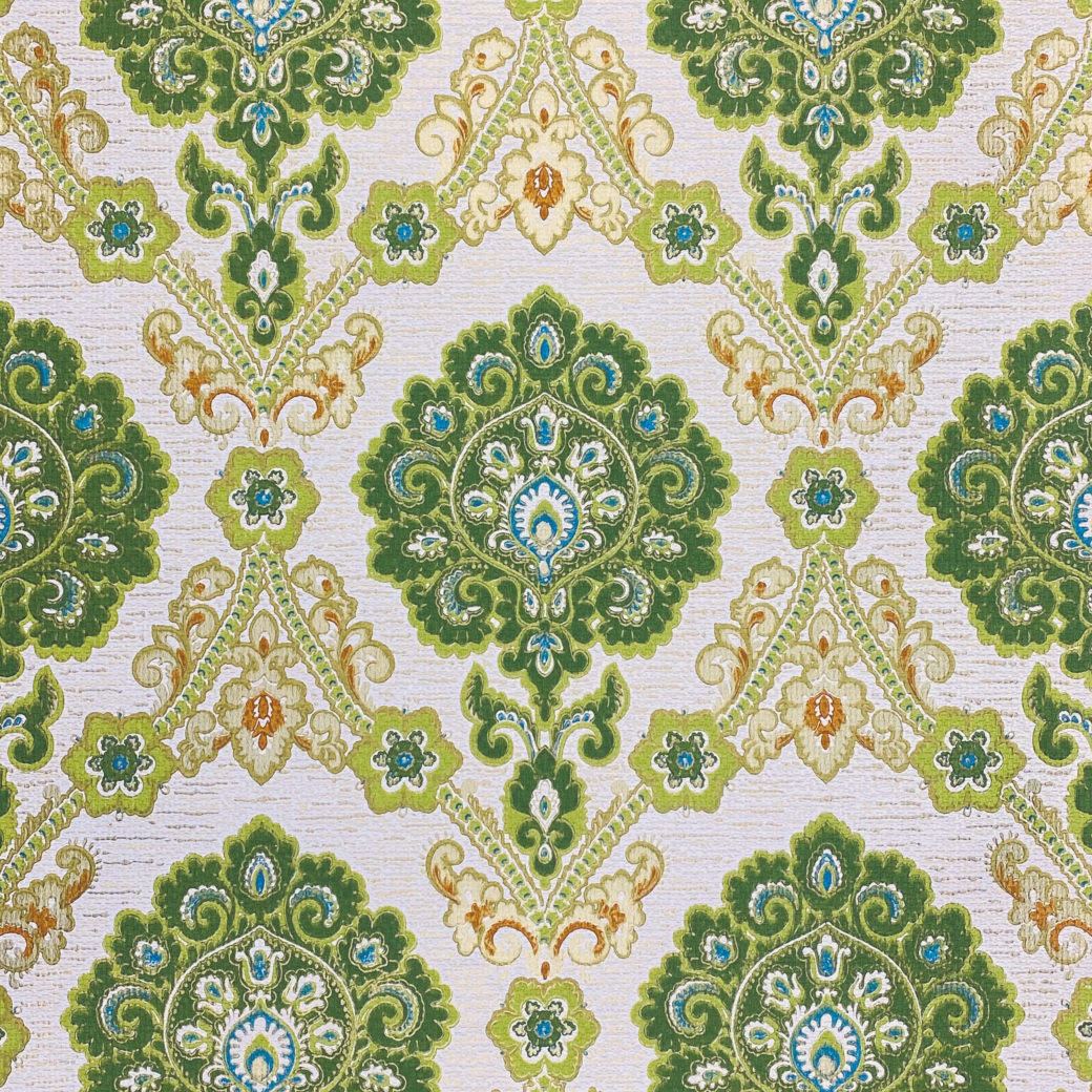 Green and Blue Baroque Wallpaper 1