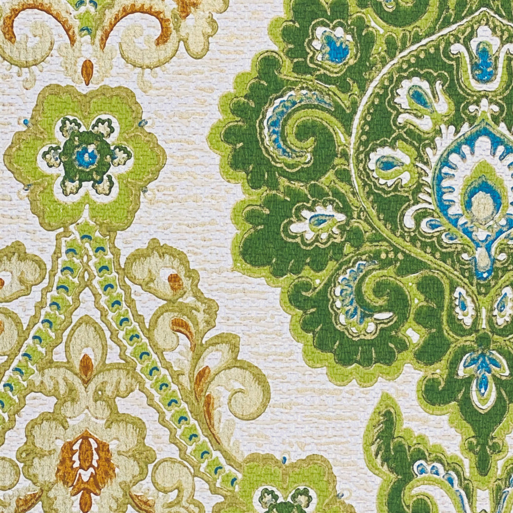Green and Blue Baroque Wallpaper 8