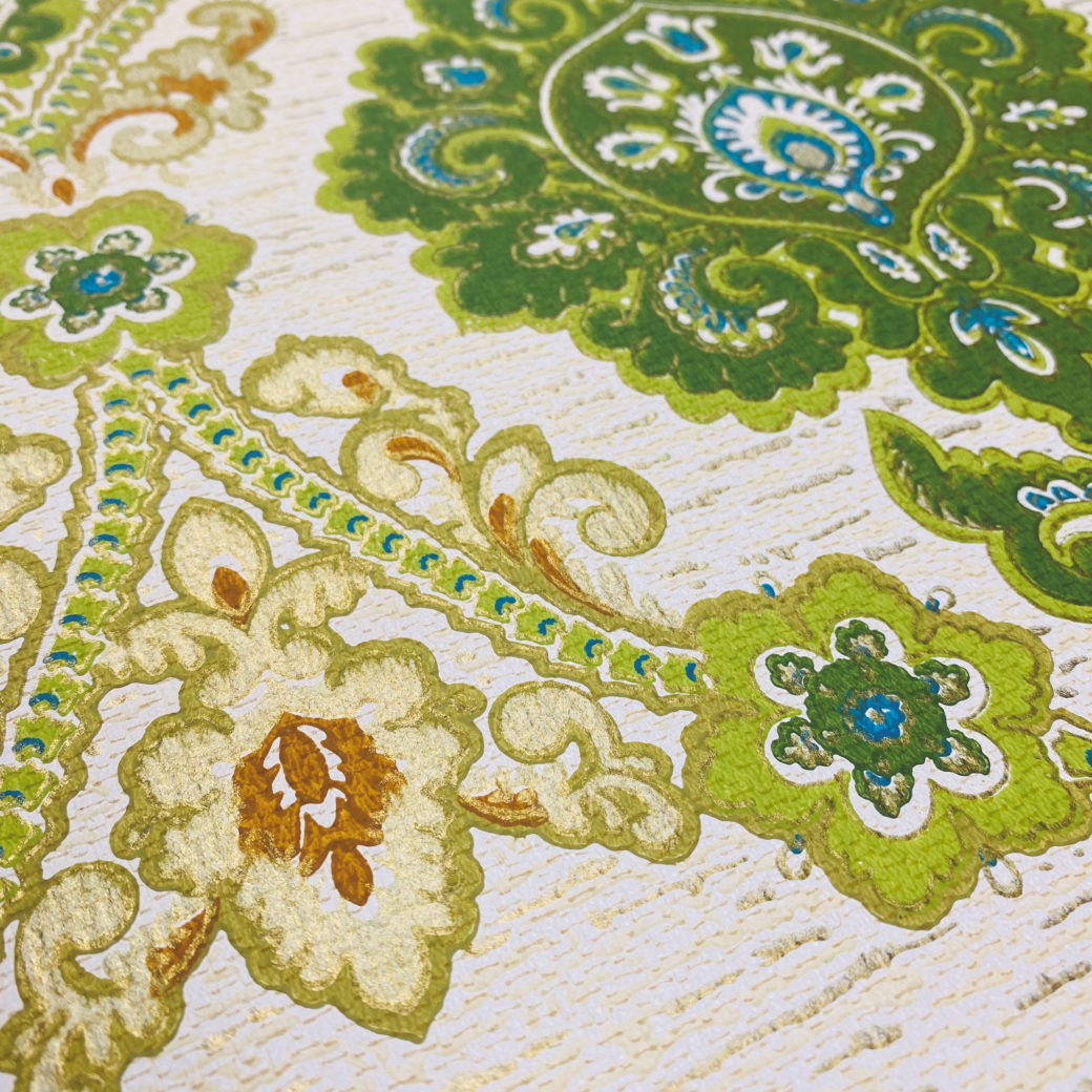 Green and Blue Baroque Wallpaper 9
