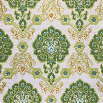 Green and Blue Baroque Wallpaper 2