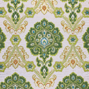 Green and Blue Baroque Wallpaper 3
