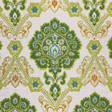 Green and Blue Baroque Wallpaper 4
