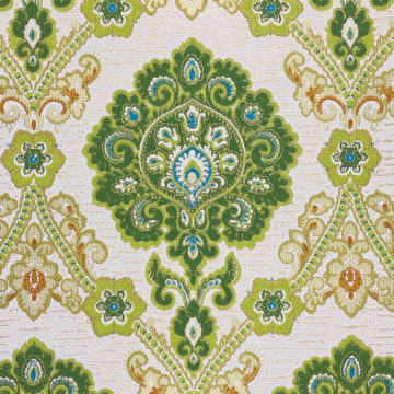 Green and Blue Baroque Wallpaper 5