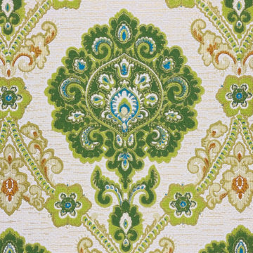 Green and Blue Baroque Wallpaper 6