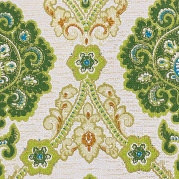 Green and Blue Baroque Wallpaper 7