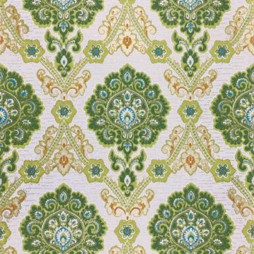 Green and Blue Baroque Wallpaper