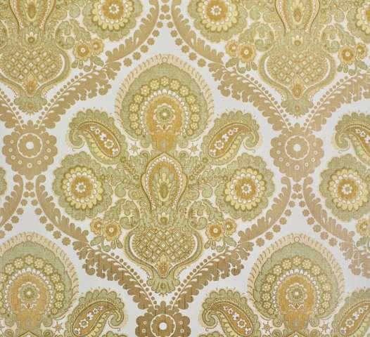 Green and gold damask wallpaper 1
