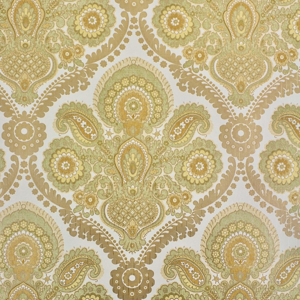 Green and gold damask wallpaper 2