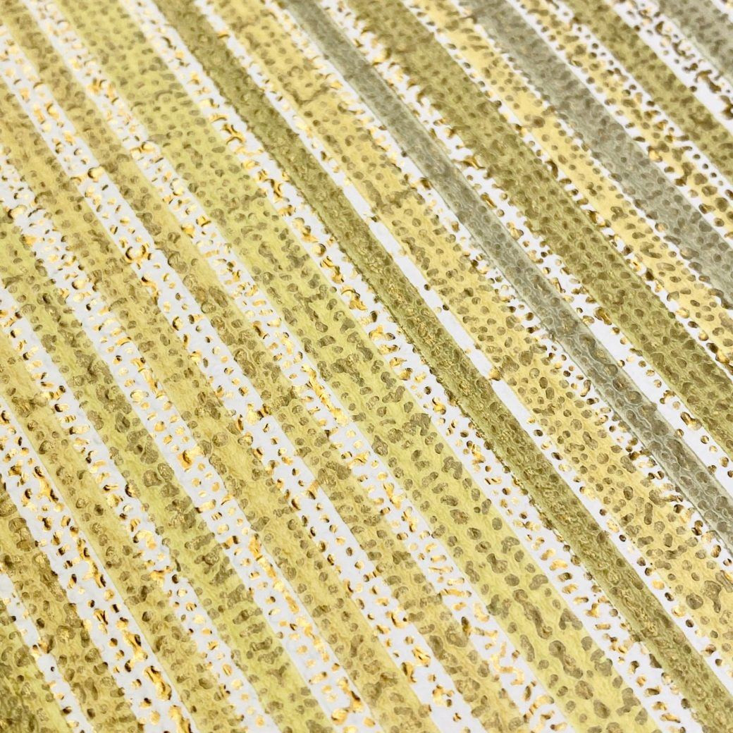 Green and Gold Stripes Wallpaper 10