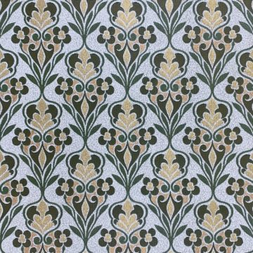 Green Baroque Wallpaper