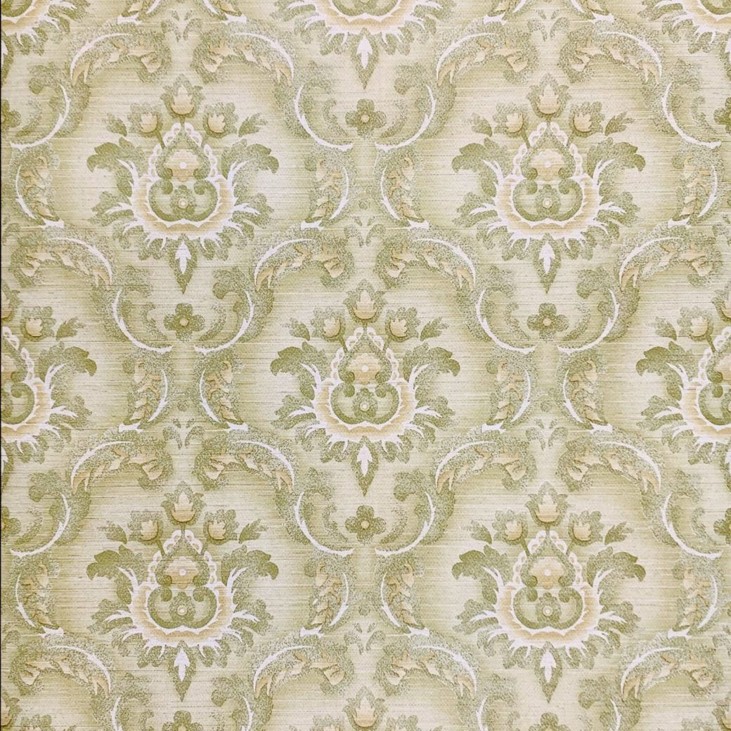 Green damask wallpaper 4