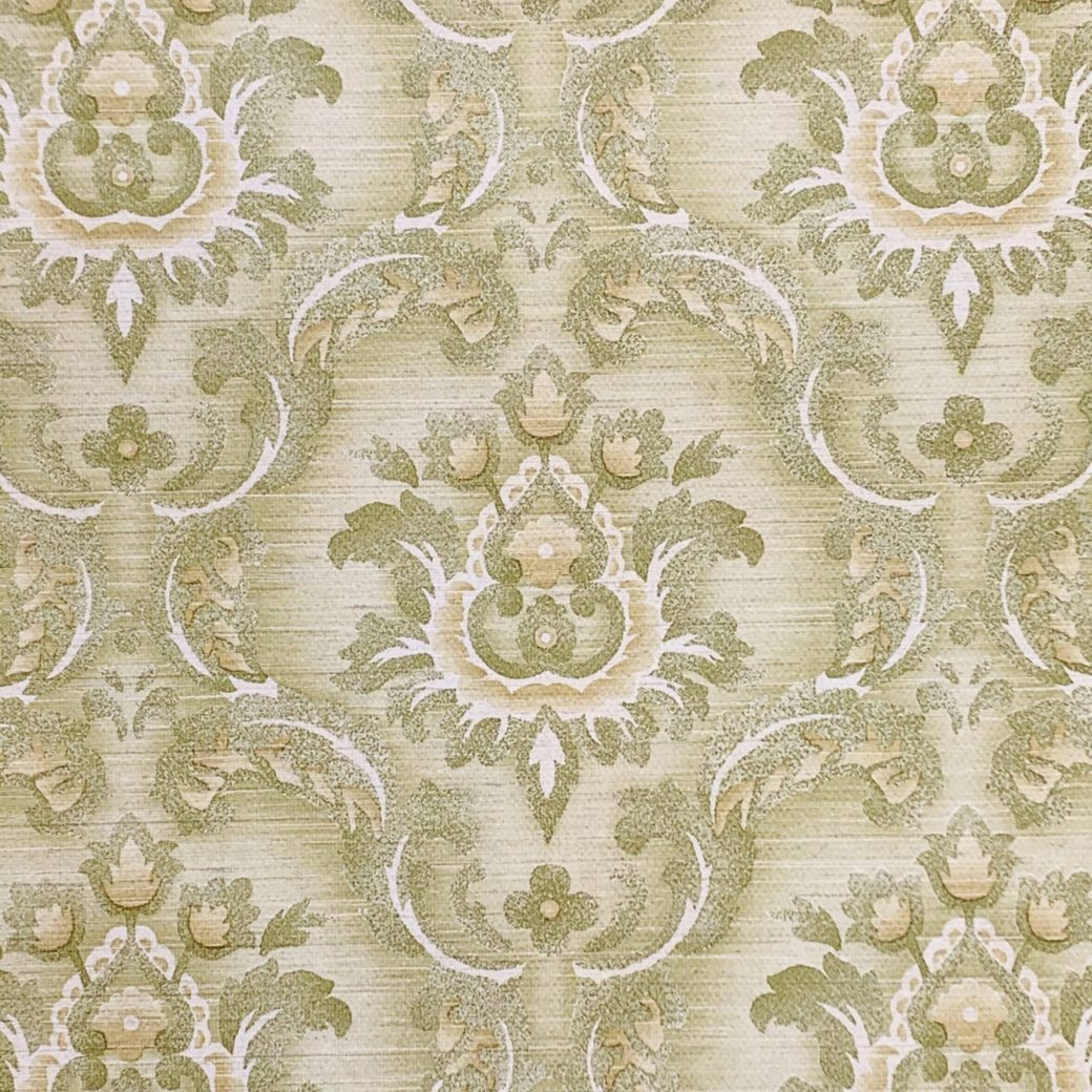 Green damask wallpaper 3