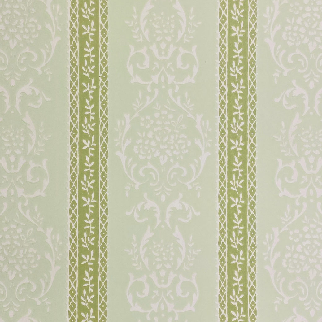 Green Floral Stripe Wallpaper 4