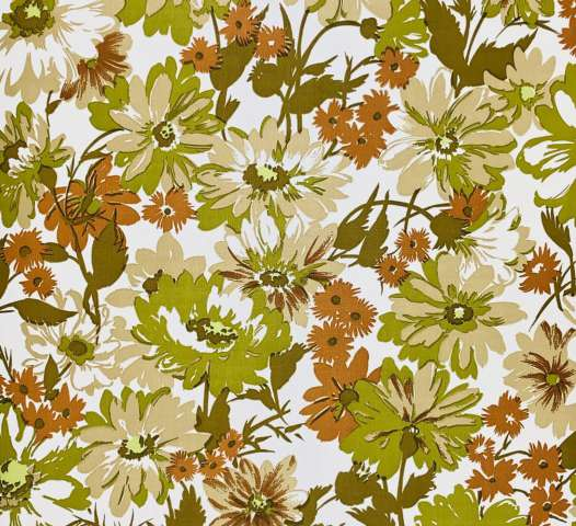 Green floral wallpaper