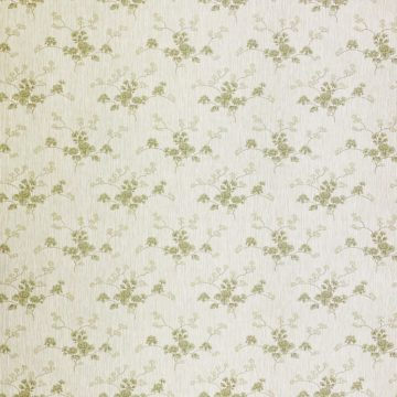 Green Floral Wallpaper with Striped Background 1
