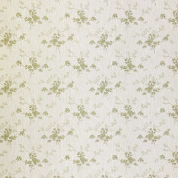 Green Floral Wallpaper with Striped Background 3