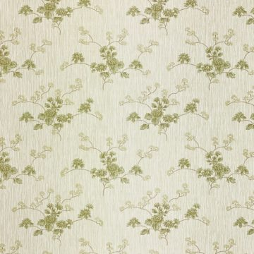 Green Floral Wallpaper with Striped Background 7