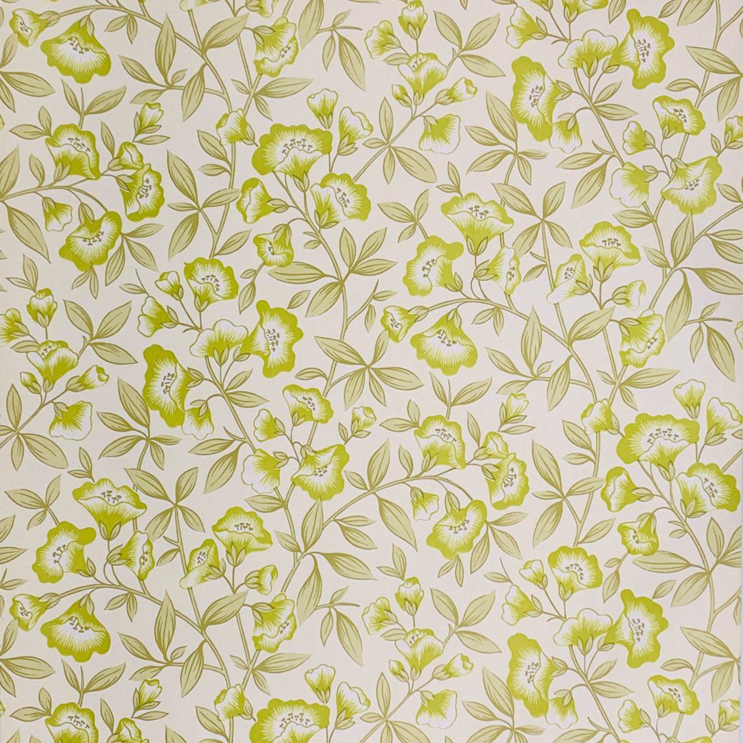 Green floral wallpaper 2
