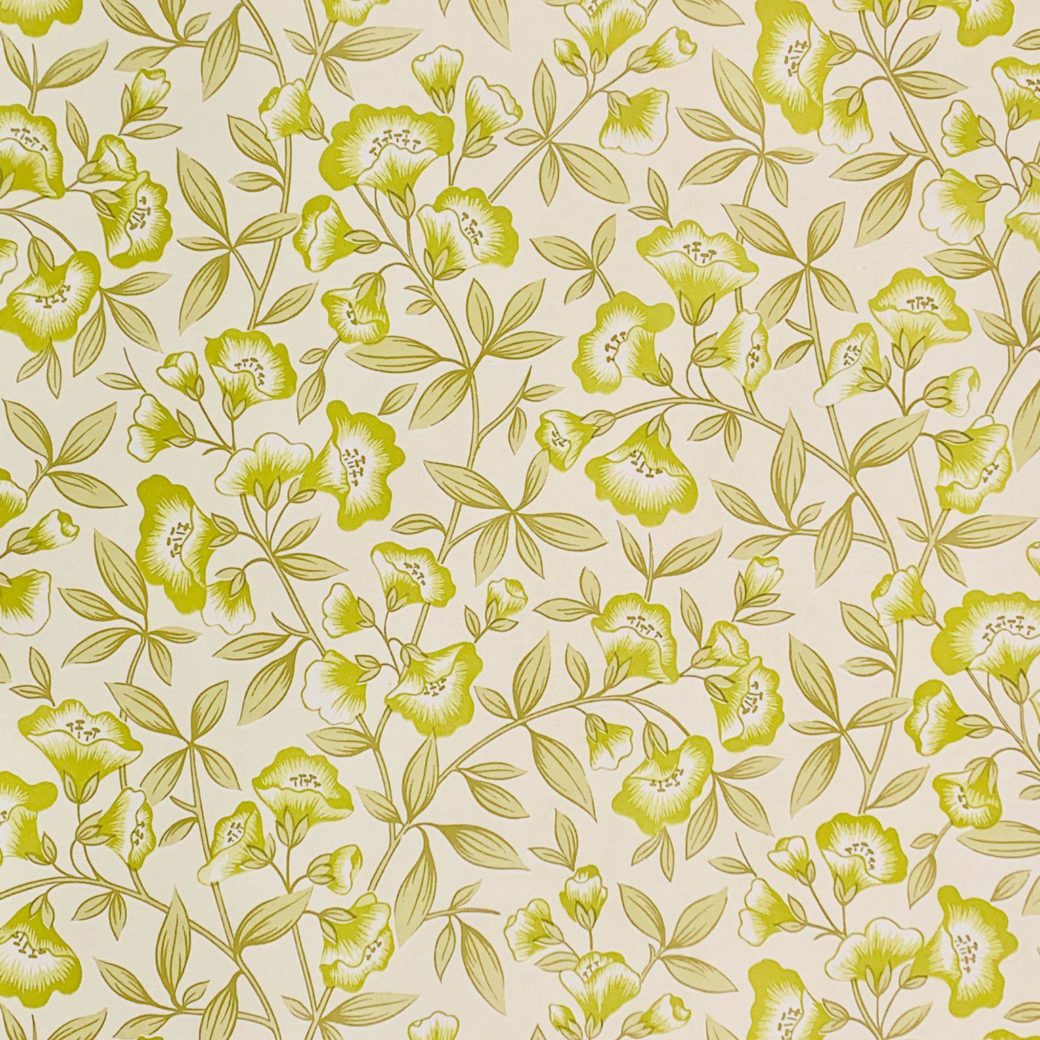Green floral wallpaper 1