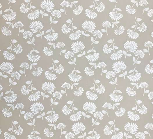 1980s grey floral wallpaper