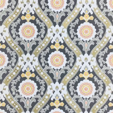 Vintage gold and gray baroque wallpaper