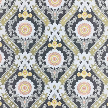 Vintage gold and gray baroque wallpaper 1