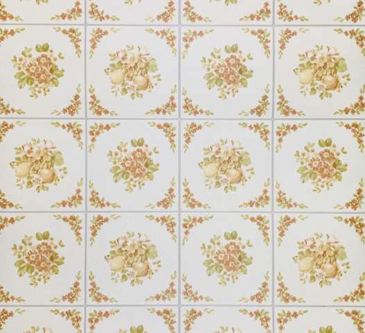 Kitchen tile pattern embossed foam vinyl