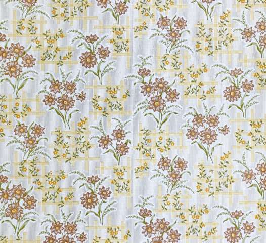 Vintage brown floral wallpaper 1 1