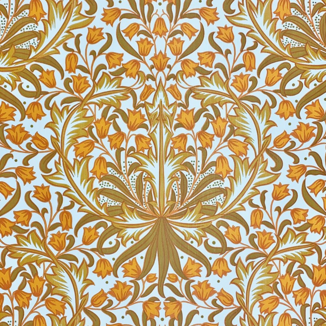 Modern orange baroque wallpaper 1