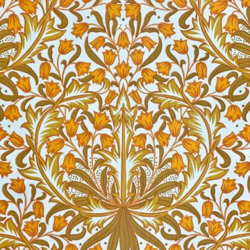 Modern orange baroque wallpaper 2